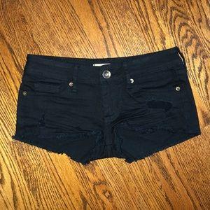 Women's Bullhead black shorts. Size 0